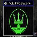 Maserati Full Logo Decal Sticker OV Lime Green Vinyl 120x120