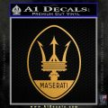 Maserati Full Logo Decal Sticker OV Metallic Gold Vinyl Vinyl 120x120
