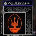 Maserati Full Logo Decal Sticker OV Orange Vinyl Emblem 120x120