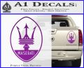 Maserati Full Logo Decal Sticker OV Purple Vinyl 120x97