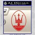 Maserati Full Logo Decal Sticker OV Red Vinyl 120x120
