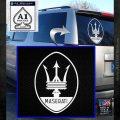 Maserati Full Logo Decal Sticker OV White Emblem 120x120