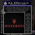 Maserati Wide Decal Sticker Orange Vinyl Emblem 120x120