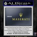 Maserati Wide Decal Sticker Yelllow Vinyl 120x120