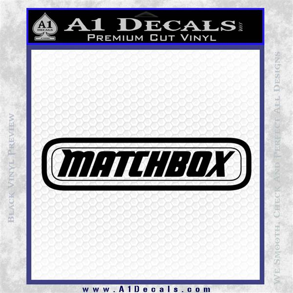 Matchbox toy car decal sticker black logo emblem 120x120