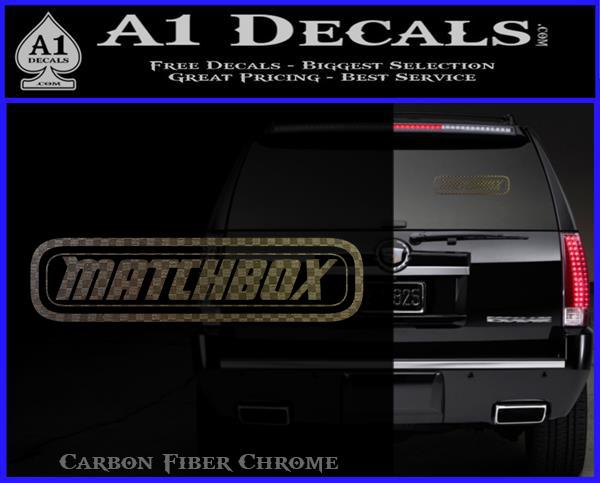 Matchbox toy car decal sticker carbon fiber chrome logo 120x97