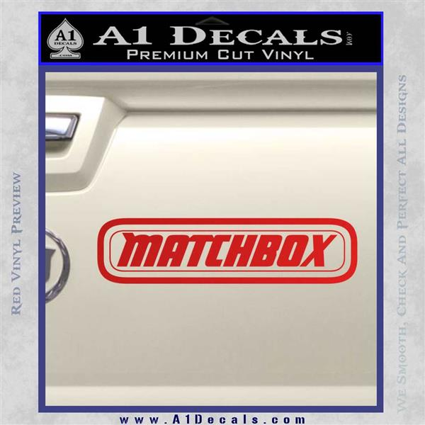 Matchbox toy car decal sticker red vinyl