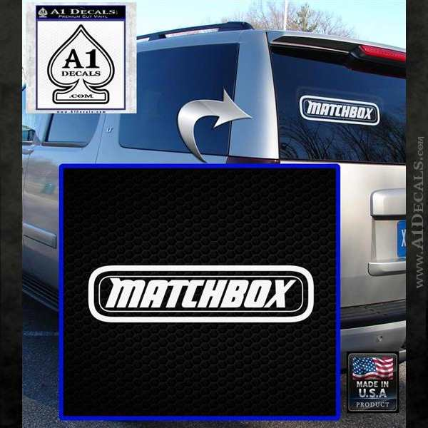 Matchbox toy car decal sticker white emblem 120x120