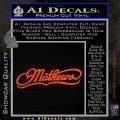 Mathews Archery Decal Sticker DN Orange Vinyl Emblem 120x120