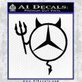 Mercedes Devil Decal Sticker Black Logo Emblem 120x120
