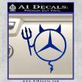 Mercedes Devil Decal Sticker Blue Vinyl 120x120