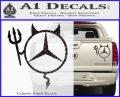 Mercedes Devil Decal Sticker Carbon Fiber Black 120x97