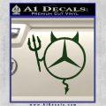 Mercedes Devil Decal Sticker Dark Green Vinyl 120x120