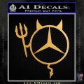 Mercedes Devil Decal Sticker Metallic Gold Vinyl Vinyl 120x120
