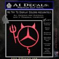 Mercedes Devil Decal Sticker Pink Vinyl Emblem 120x120