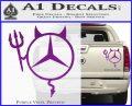 Mercedes Devil Decal Sticker Purple Vinyl 120x97