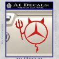 Mercedes Devil Decal Sticker Red Vinyl 120x120