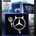 Mercedes Devil Decal Sticker White Emblem 120x120