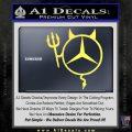 Mercedes Devil Decal Sticker Yelllow Vinyl 120x120