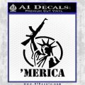 Merica Libery Rifle Decal Sticker Black Logo Emblem 120x120