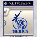 Merica Libery Rifle Decal Sticker Blue Vinyl 120x120