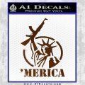 Merica Libery Rifle Decal Sticker Brown Vinyl 120x120