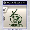 Merica Libery Rifle Decal Sticker Dark Green Vinyl 120x120