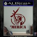 Merica Libery Rifle Decal Sticker Dark Red Vinyl 120x120
