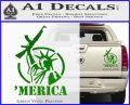Merica Libery Rifle Decal Sticker Green Vinyl 120x97