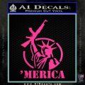 Merica Libery Rifle Decal Sticker Hot Pink Vinyl 120x120