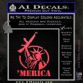 Merica Libery Rifle Decal Sticker Pink Vinyl Emblem 120x120