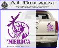 Merica Libery Rifle Decal Sticker Purple Vinyl 120x97