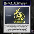 Merica Libery Rifle Decal Sticker Yelllow Vinyl 120x120