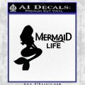 Mermaid Love Decal Sticker DZA Black Logo Emblem 120x120