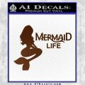 Mermaid Love Decal Sticker DZA Brown Vinyl 120x120