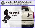Mermaid Love Decal Sticker DZA Carbon Fiber Black 120x97