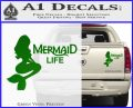 Mermaid Love Decal Sticker DZA Green Vinyl 120x97