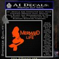 Mermaid Love Decal Sticker DZA Orange Vinyl Emblem 120x120
