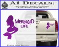 Mermaid Love Decal Sticker DZA Purple Vinyl 120x97