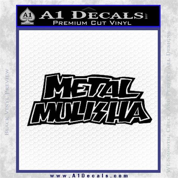 Metal Mulisha TXT Decal Sticker Black Logo Emblem