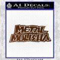 Metal Mulisha TXT Decal Sticker Brown Vinyl 120x120