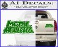 Metal Mulisha TXT Decal Sticker Green Vinyl 120x97