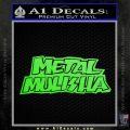 Metal Mulisha TXT Decal Sticker Lime Green Vinyl 120x120