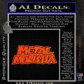 Metal Mulisha TXT Decal Sticker Orange Vinyl Emblem 120x120