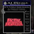 Metal Mulisha TXT Decal Sticker Pink Vinyl Emblem 120x120