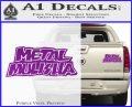 Metal Mulisha TXT Decal Sticker Purple Vinyl 120x97