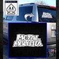 Metal Mulisha TXT Decal Sticker White Emblem 120x120