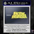 Metal Mulisha TXT Decal Sticker Yelllow Vinyl 120x120