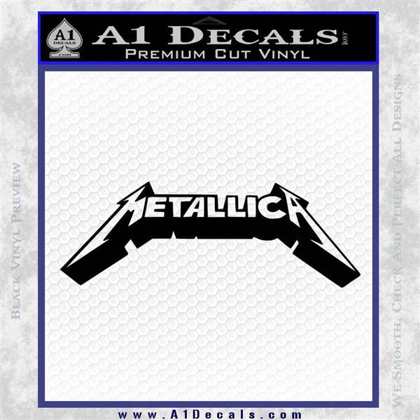 Metallica New Wide Decal Sticker Black Logo Emblem