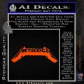 Metallica New Wide Decal Sticker Orange Vinyl Emblem 120x120